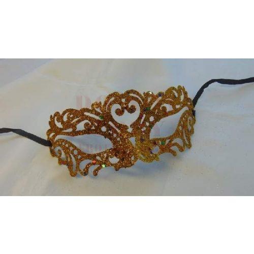 Arany glitteres maszk
