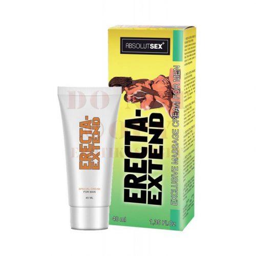 Erecta extend exkluzív pénisznövelő krém - 40 ml