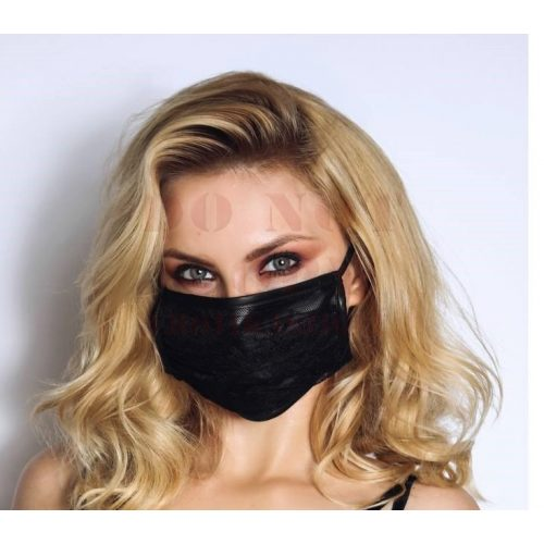 Noir csipkés fekete maszk