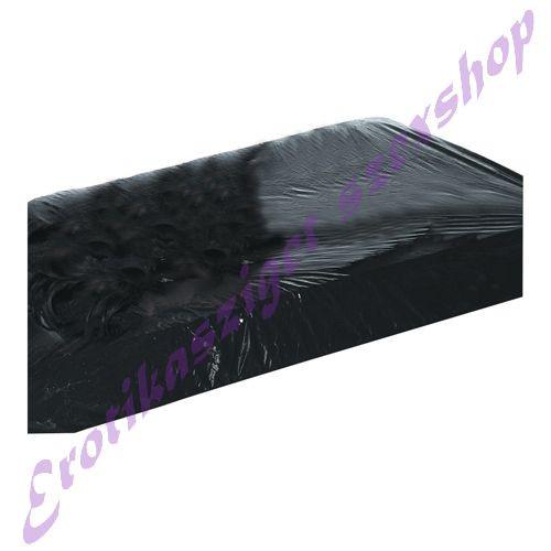 Fekete gumírozott lakk lepedő - 220x220
