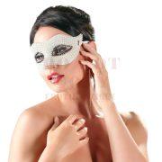 Gyöngyös fehér szemmaszk - Cottelli Collection