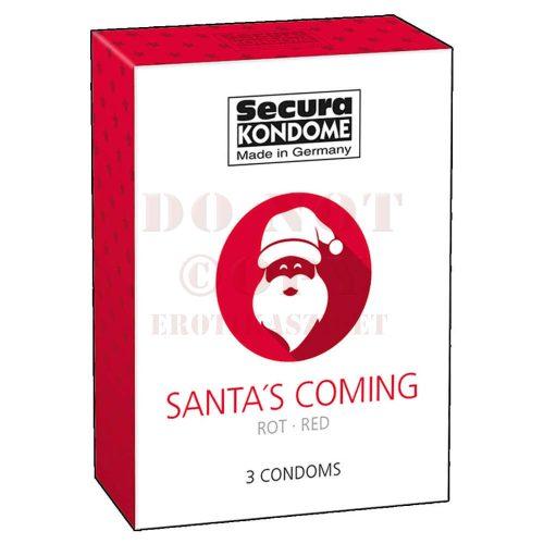 Secura Santa Coming epres óvszer - 3 db