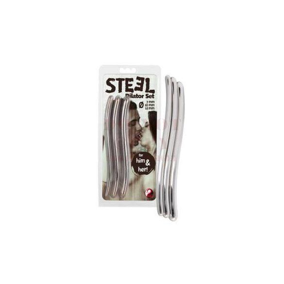 Steel dilator húgycsőtágító szett - 3 db