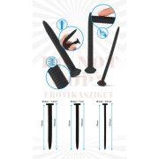 Csavaros fekete húgycsőtágító szett - Screw Dilator