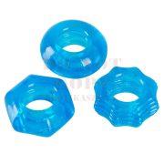 Kék szilikon péniszgyűrű trió - You2Toys
