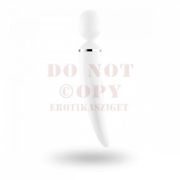 Satisfyer Woman Wand tölthető masszírozó vibrátor - fehér