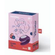 Okos tölthető vízálló lila párvibrátor - Satisfyer Double Joy