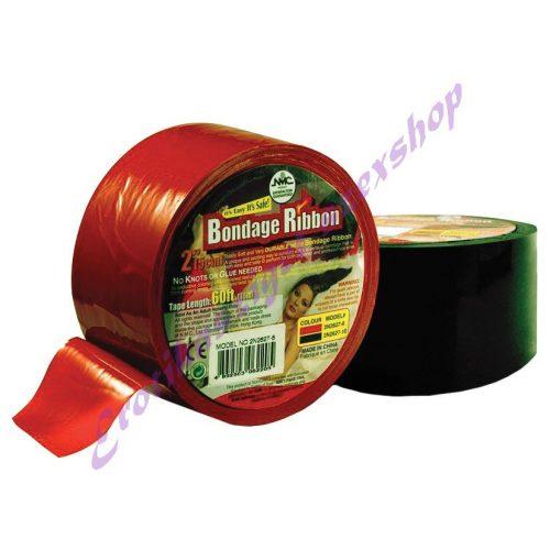 Fetish bondage tape szalag -piros