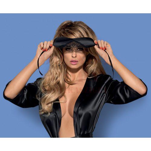 Obsessive Satinia mask - szatén fekete  szemmaszk