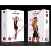 Obsessive 853 szexi fekete hálóruha - L/XL