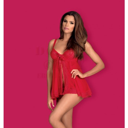 Obsessive Rougebelle piros babydoll - S/M