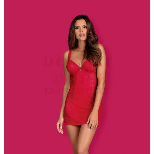 Obsessive Rougebelle piros chemise - S/M