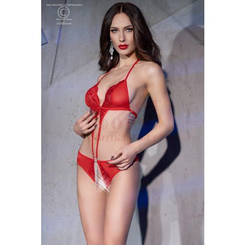 Chilirose 4410 nyitott piros body - S/M