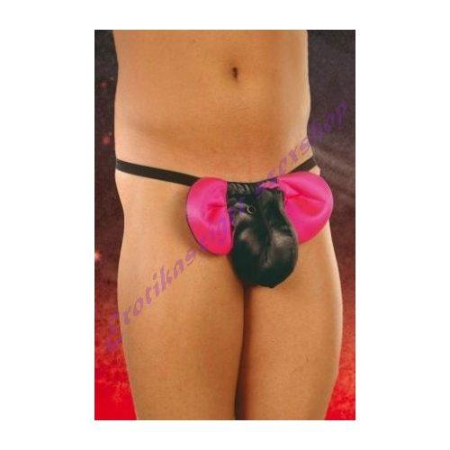 Férfi elefántos tanga - S/L - fekete-pink