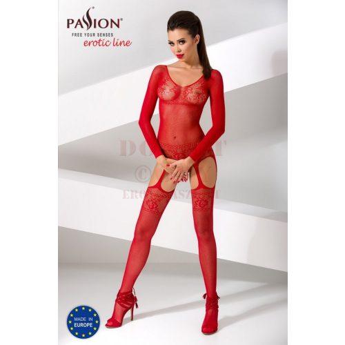 Passion csipkés piros harisnyaruha - BS055