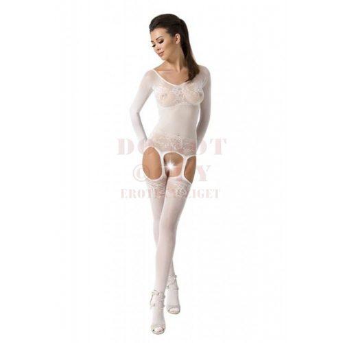 Passion csipkés fehér harisnyaruha - BS055