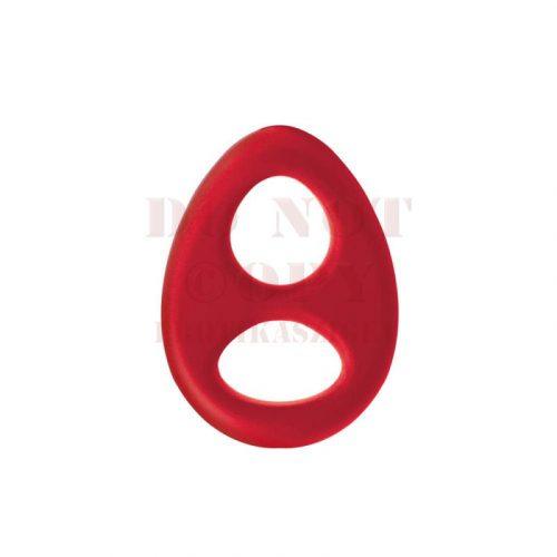 Renegade szilikon pénisz és heregyűrű - piros