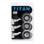 Titan - 3 darabos szilikon péniszgyűrű szett