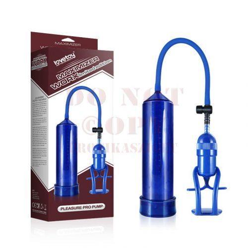 Worx kétujjas kék péniszpumpa