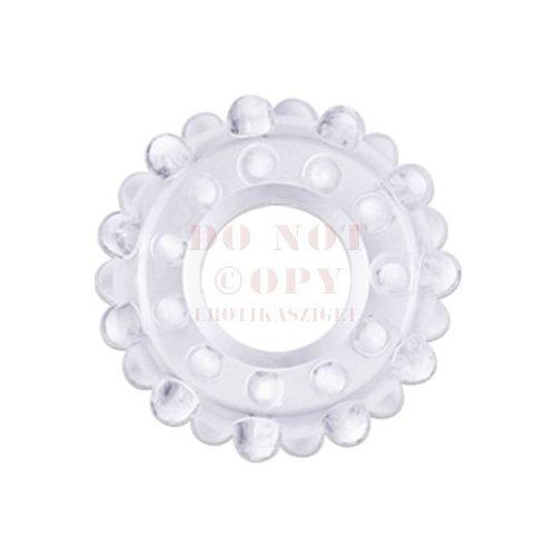Extra rugalmas golyós erekciógyűrű - víztiszta