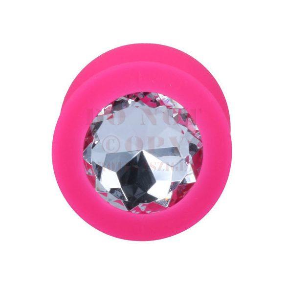 Intense rózsaszín szilikon anál ékszer - közepes méret