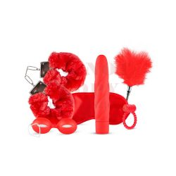 Lovebox 6részes vibrátoros piros kötöző szett